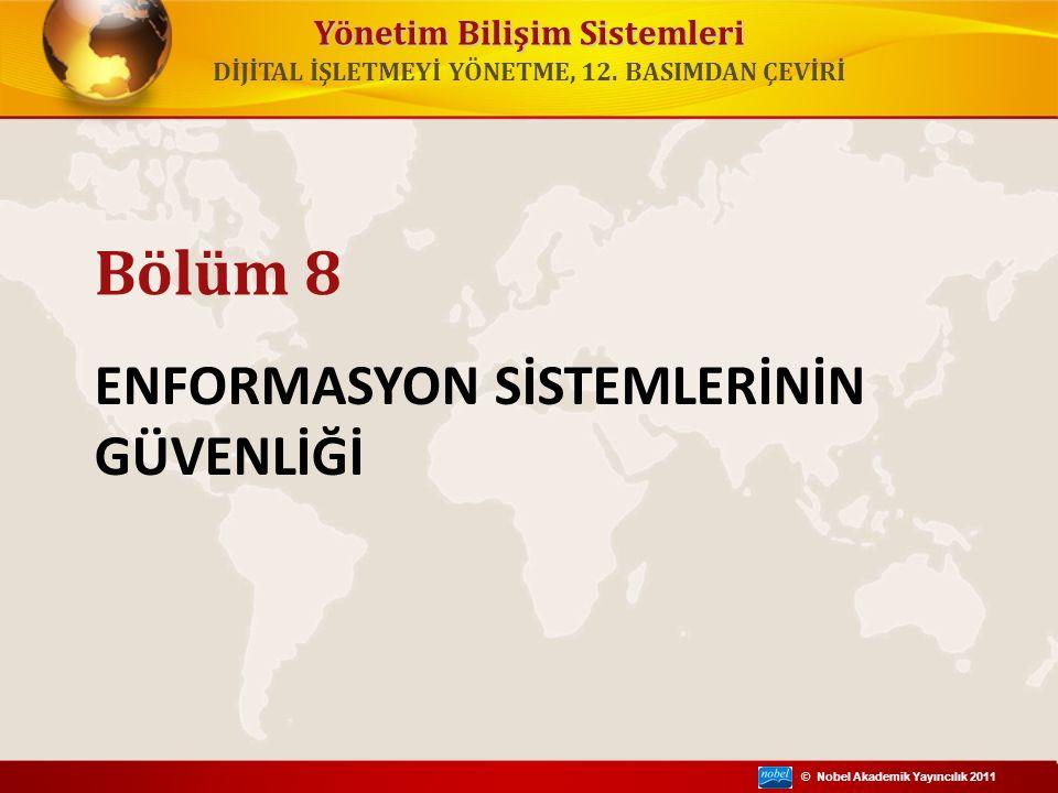 © Nobel Akademik Yayıncılık 2011 Yönetim Bilişim Sistemleri Enformasyon sistemleri yıkım, hata ve suistimale karşı neden zayıftır.