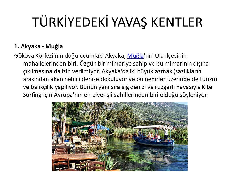 TÜRKİYEDEKİ YAVAŞ KENTLER 1.
