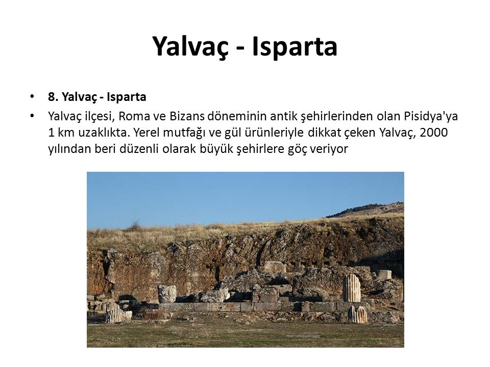Yalvaç - Isparta 8.