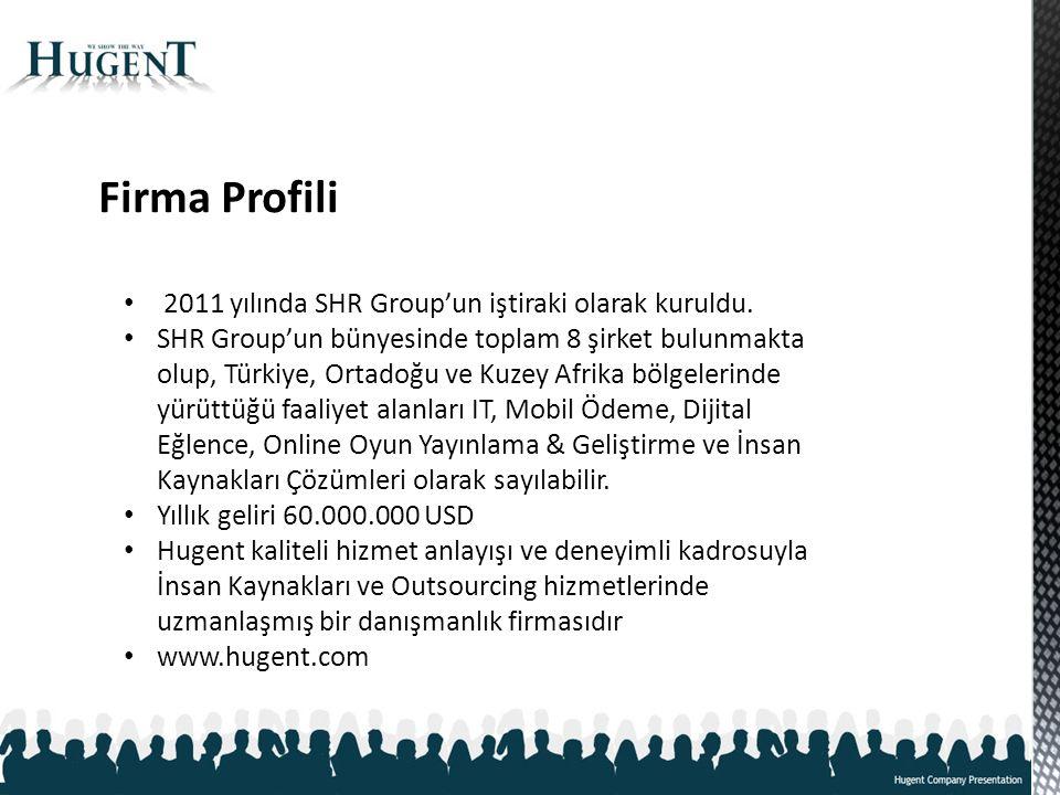 Firma Profili 2011 yılında SHR Group'un iştiraki olarak kuruldu.