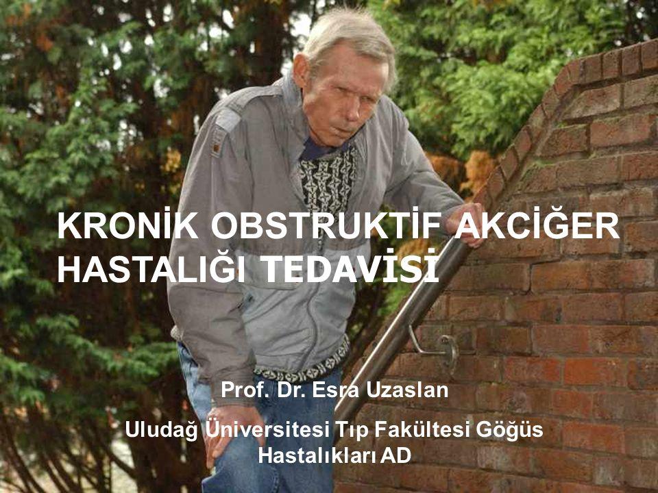 KRONİK OBSTRUKTİF AKCİĞER HASTALIĞI TEDAVİSİ Prof. Dr. Esra Uzaslan Uludağ Üniversitesi Tıp Fakültesi Göğüs Hastalıkları AD