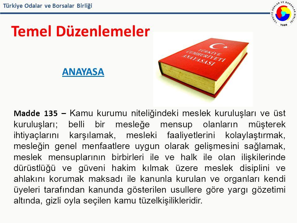 Türkiye Odalar ve Borsalar Birliği Temel Düzenlemeler 5174 SAYILI TOBB KANUNU Tanımlar Madde 3/e - Personel: Oda, borsa ve Birlikte çalışanları ifade eder.