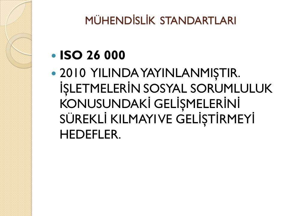 ISO 26 000 2010 YILINDA YAYINLANMIŞTIR.