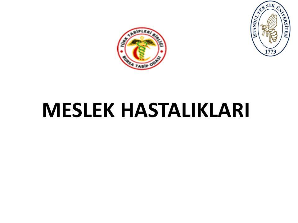 ÖĞRENME HEDEFLERİ Katılımcılar eğitim sonunda; Meslek hastalıkları konusunda temel kavramları Meslek hastalıklarının çeşitleri ve tanı yöntemlerini Meslek hastalıklarından korunma yöntemlerini Meslek hastalıkları istatistiklerini Yasal prosedürleri Hukuki sorumlulukları öğrenir.
