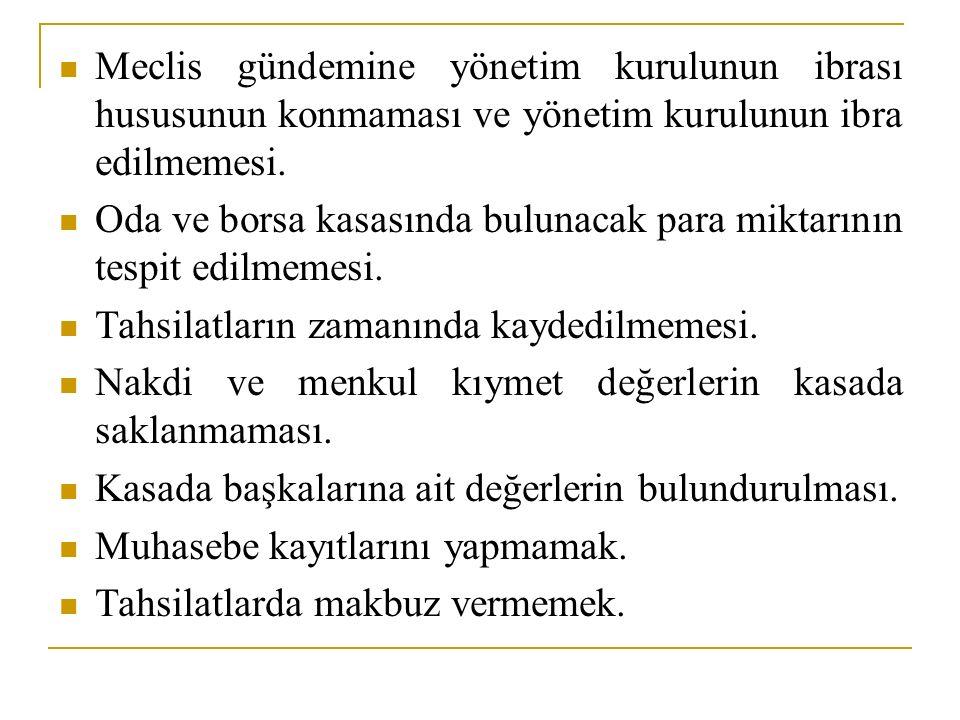 Meclis gündemine yönetim kurulunun ibrası hususunun konmaması ve yönetim kurulunun ibra edilmemesi.