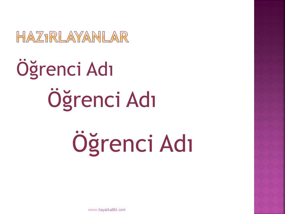 Öğrenci Adı www.hayalkatibi.com