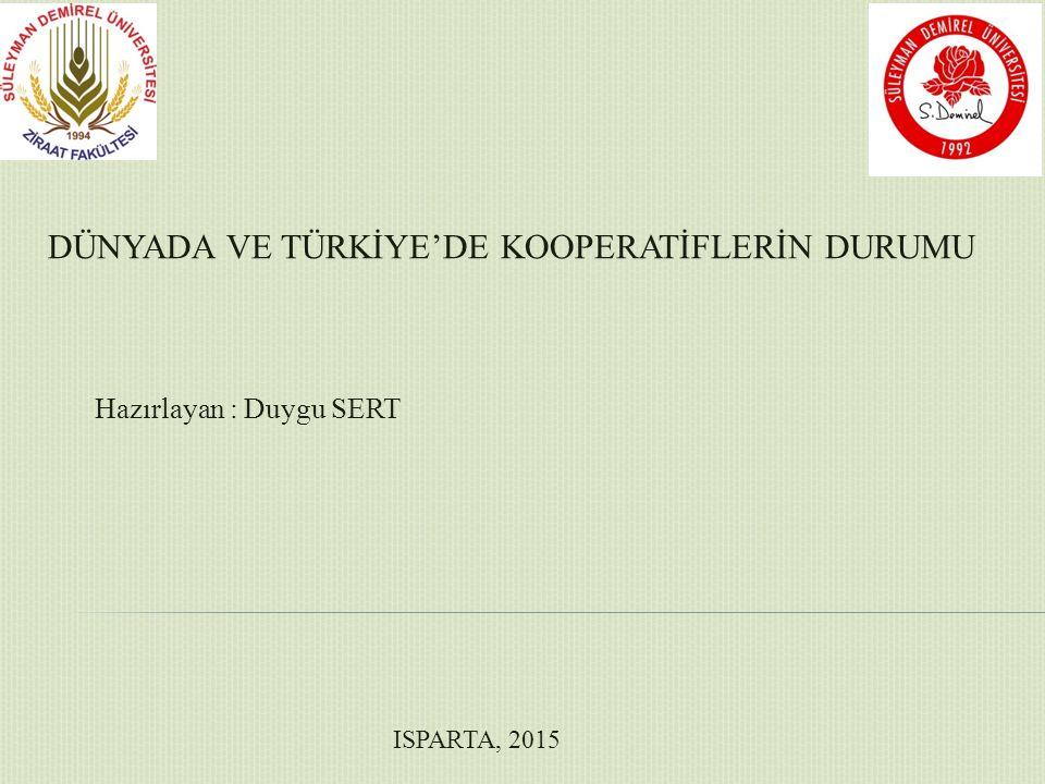  Tarım işletmelerinin çoğunluğunun küçük işletmelerden oluştuğu Türkiye'de bu işletmelerin ekonomik ve sosyal yönlerden kalkındırılmasını sağlamak için en önemli araçların başında tarım kooperatifleri gelmektedir.