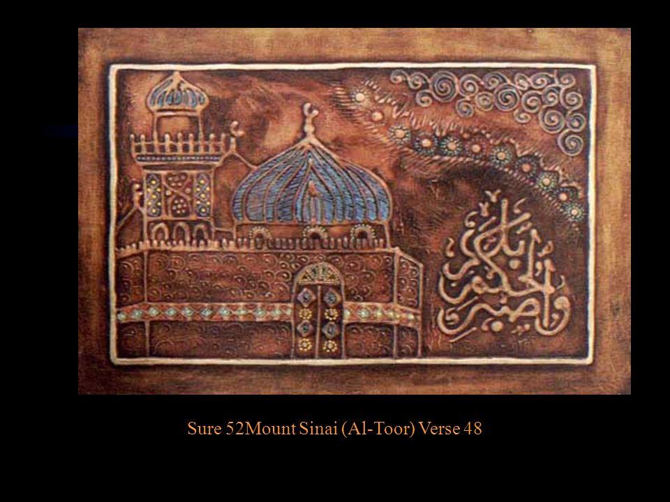Sure 52Mount Sinai (Al-Toor) Verse 48
