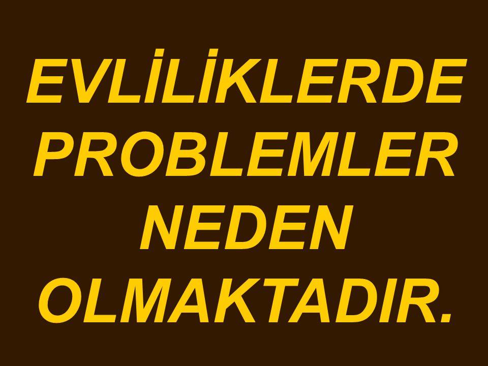 EVLİLİKLERDE PROBLEMLER NEDEN OLMAKTADIR.