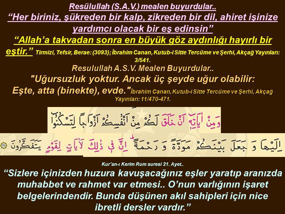 """Kur'an-ı Kerim Rum suresi 21. Ayet.. """"Sizlere içinizden huzura kavuşacağınız eşler yaratıp aranızda muhabbet ve rahmet var etmesi.. O'nun varlığının i"""