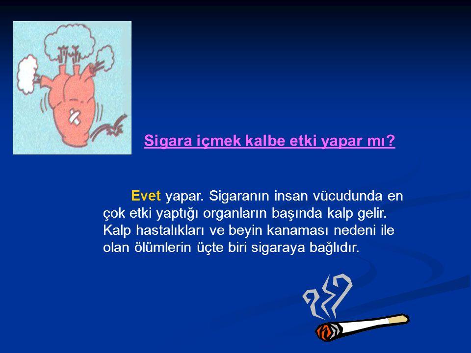 Sigara içmek kalbe etki yapar mı. Evet yapar.