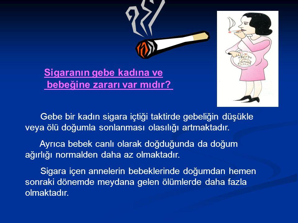 Sigaranın gebe kadına ve bebeğine zararı var mıdır.