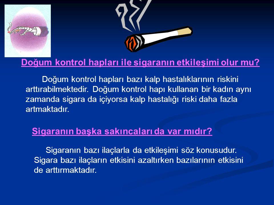 Doğum kontrol hapları ile sigaranın etkileşimi olur mu.