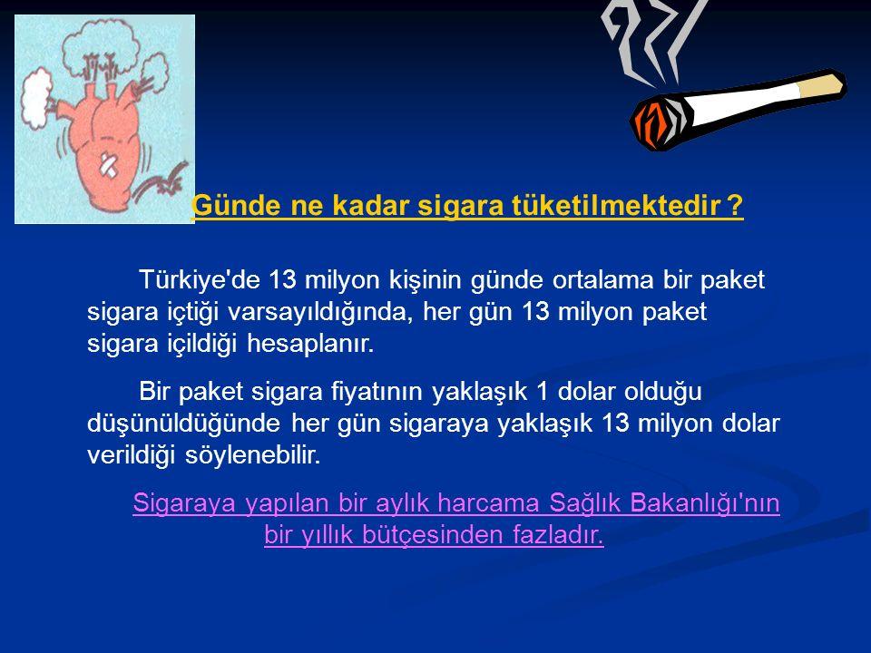 Günde ne kadar sigara tüketilmektedir .