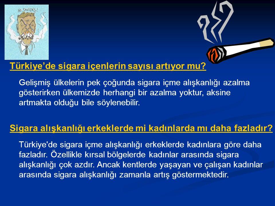Türkiye'de sigara içenlerin sayısı artıyor mu.