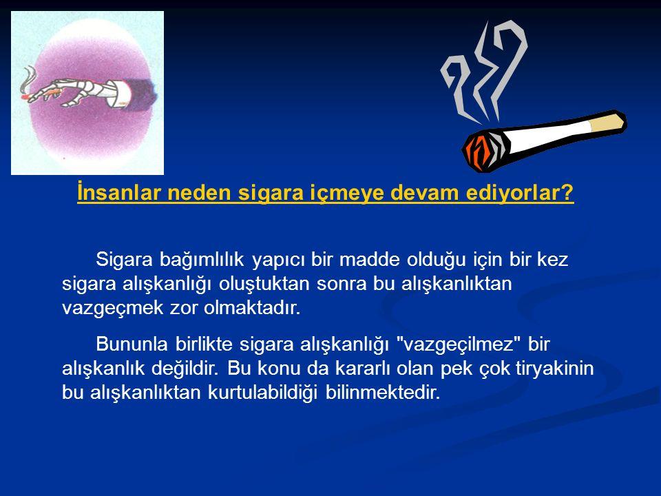 İnsanlar neden sigara içmeye devam ediyorlar.