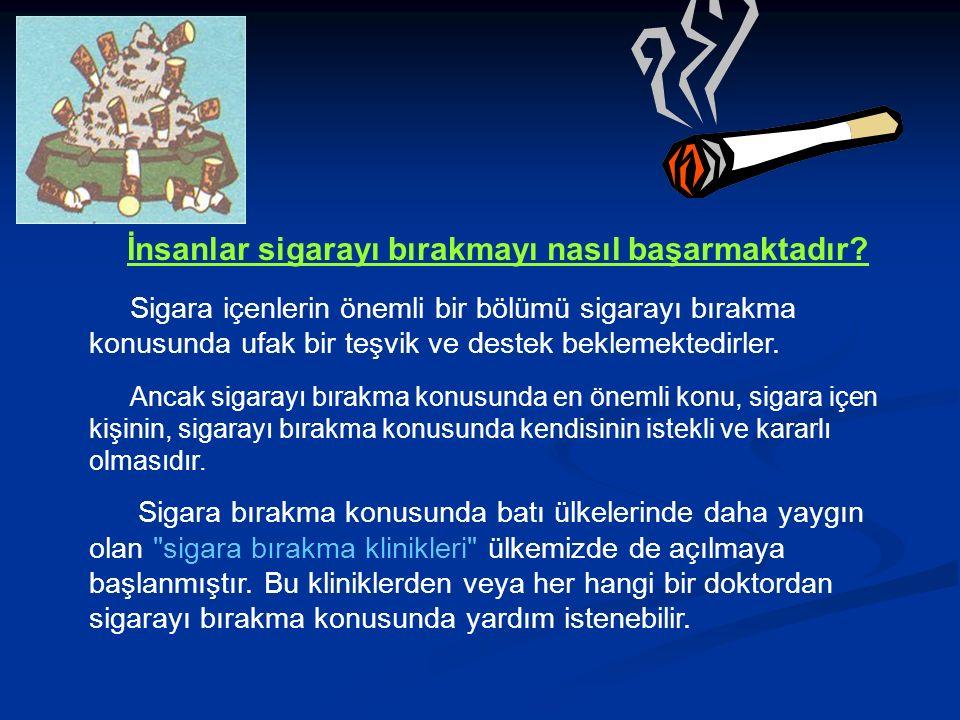 İnsanlar sigarayı bırakmayı nasıl başarmaktadır.