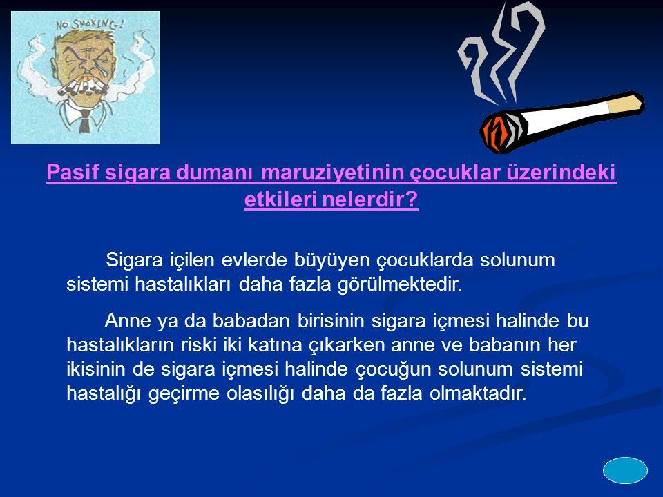 Pasif sigara dumanı maruziyetinin çocuklar üzerindeki etkileri nelerdir.