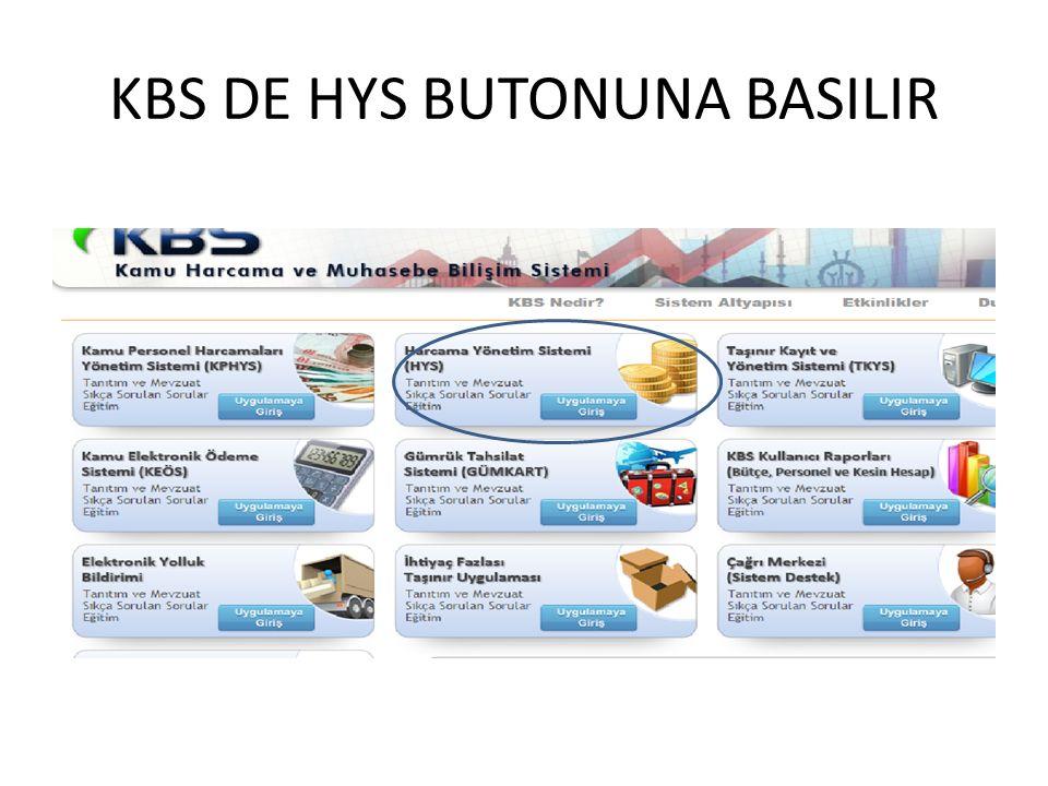 KBS DE HYS BUTONUNA BASILIR