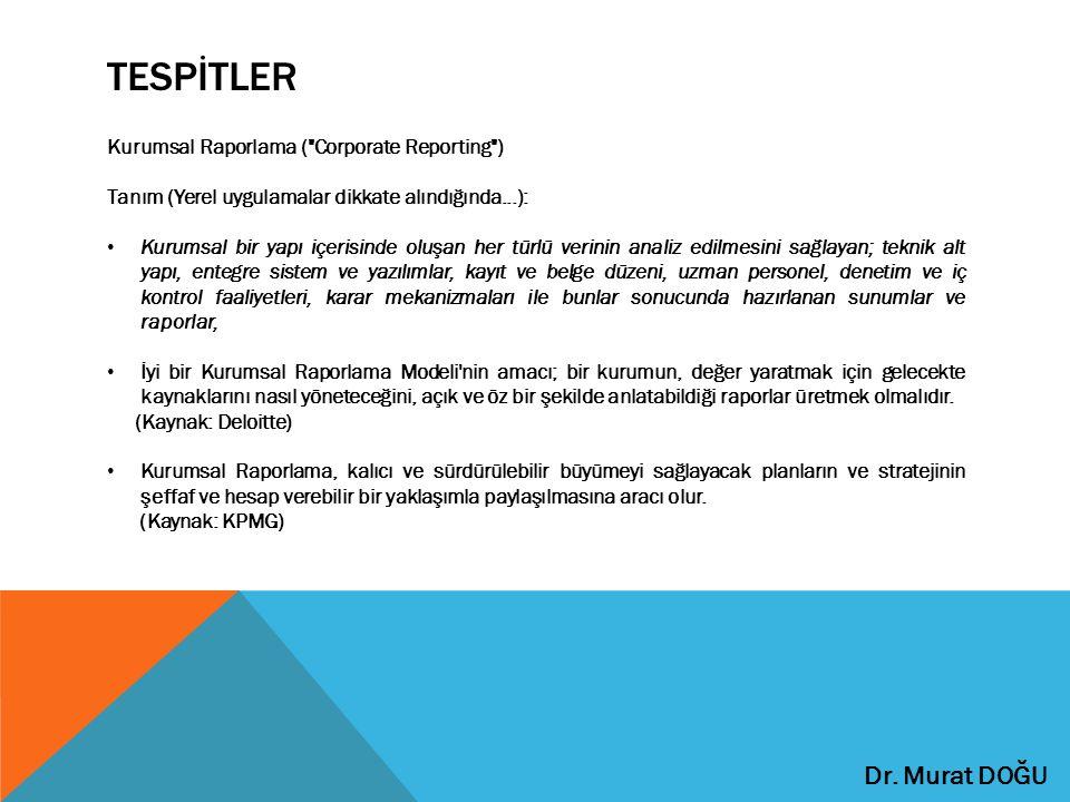 TESPİTLER Kurumsal Raporlama (