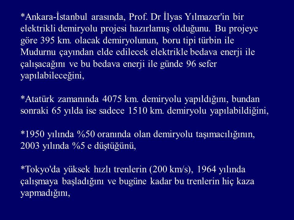 *Ankara-İstanbul arasında, Prof.