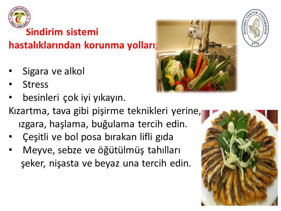 *Kızartma için sırasıyla, zeytin yağı, fındık yağı kullanın, *Fastfood türü yiyeceklerden uzak durun.