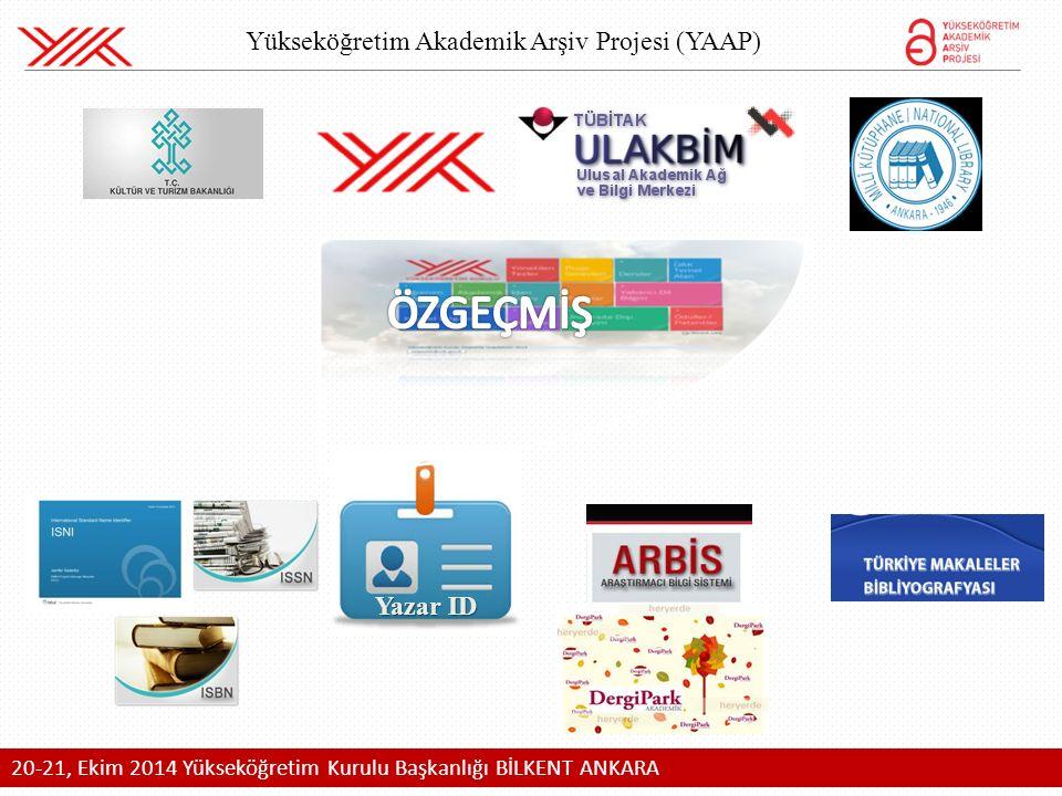 Yükseköğretim Akademik Arşiv Projesi (YAAP) Yazar ID