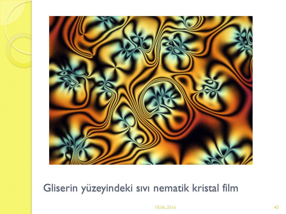 42 Gliserin yüzeyindeki sıvı nematik kristal film 18.06.201642