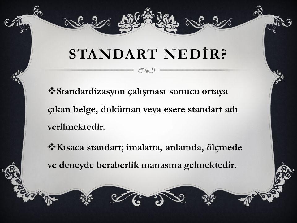 SORULAR  1-Yaoı karakterine göre standarrtlar nelerdir  2-Standardizasyon amaçlarından 3 tanesini yazınız  3-Standardizasyonun ekonomiye faydaları
