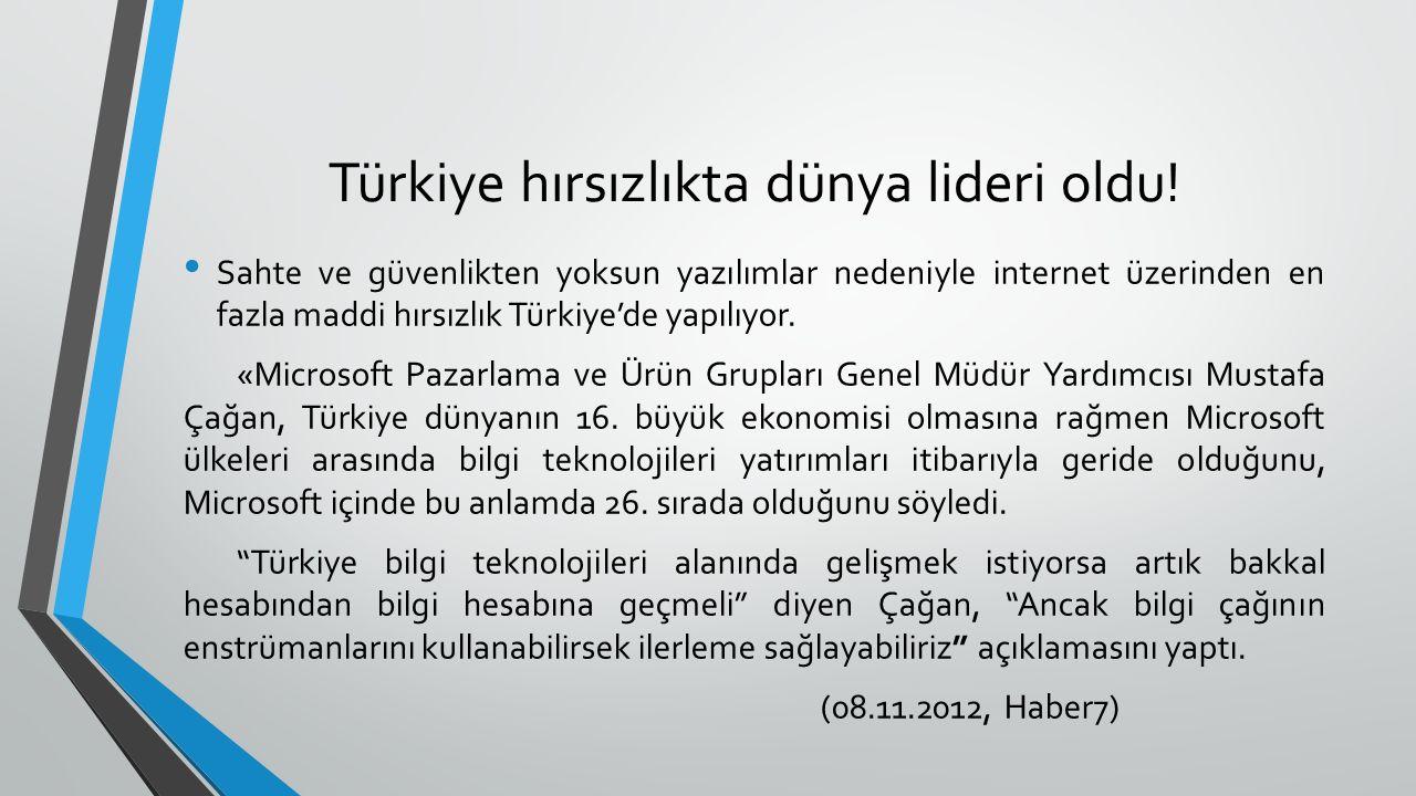 Türkiye hırsızlıkta dünya lideri oldu.