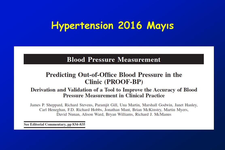 Hypertension 2016 Mayıs