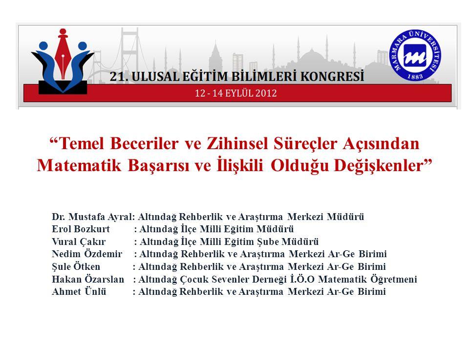 Dr. Mustafa Ayral: Altındağ Rehberlik ve Araştırma Merkezi Müdürü Erol Bozkurt : Altındağ İlçe Milli Eğitim Müdürü Vural Çakır : Altındağ İlçe Milli E