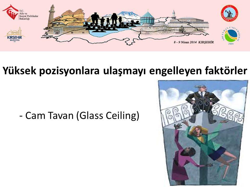 Yüksek pozisyonlara ulaşmayı engelleyen faktörler - Cam Tavan (Glass Ceiling)
