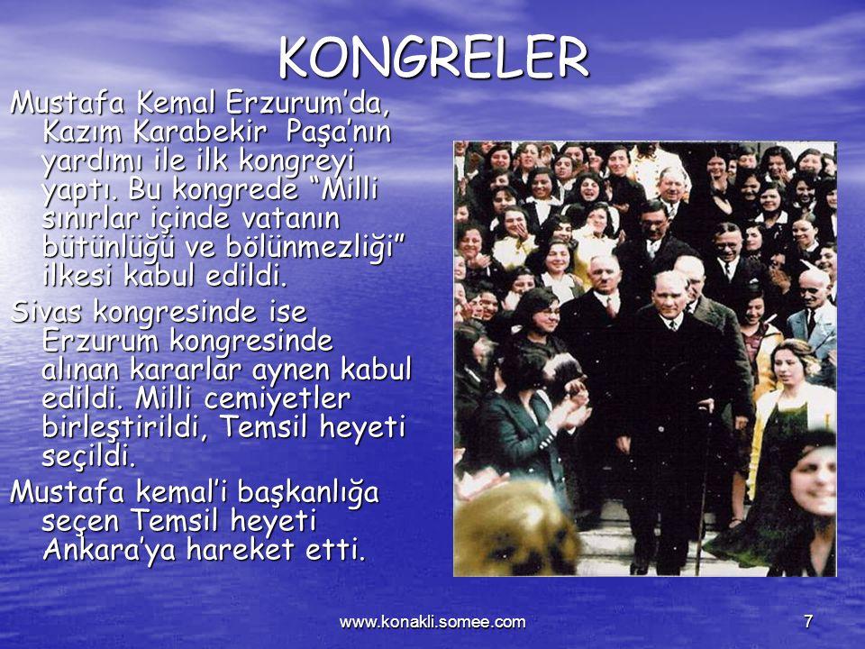 www.konakli.somee.com6 Mustafa Kemal Samsun'a çıkışından sonra ne gibi çalışmalar yapmıştır? Mustafa Kemal Samsun'a çıkışından sonra ne gibi çalışmala
