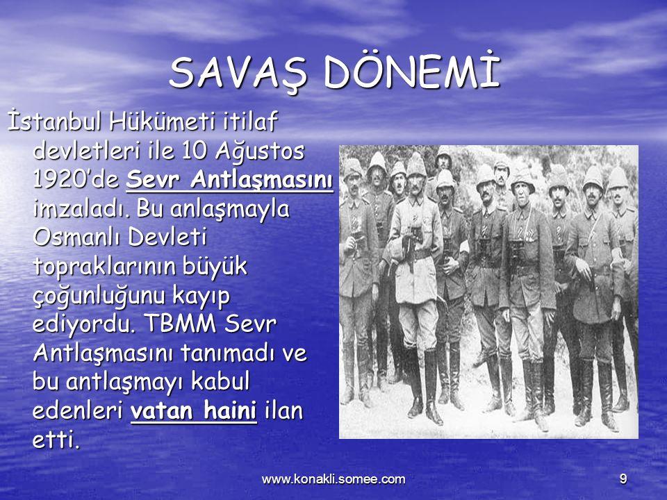 www.konakli.somee.com8 TBMM'nin Açılışı TBMM'nin Açılışı Osmanlı Mebusan meclisi İşgal kuvvetleri tarafından dağıtıldığından Kurtuluş savaşının sevk v