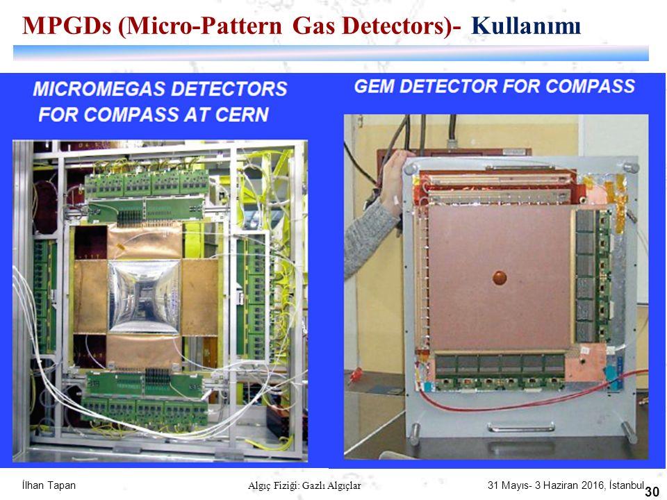 İlhan Tapan Algıç Fiziği: Gazlı Algıçlar 31 Mayıs- 3 Haziran 2016, İstanbul 30 MPGDs (Micro-Pattern Gas Detectors)- Kullanımı