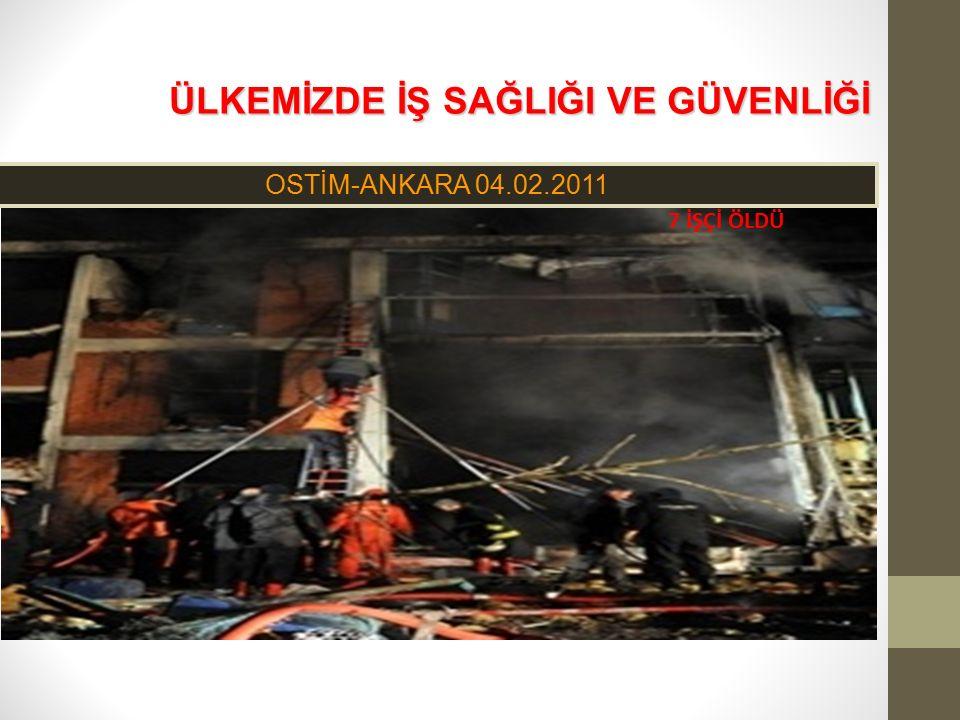 ÜLKEMİZDE İŞ SAĞLIĞI VE GÜVENLİĞİ ÜLKEMİZDE İŞ SAĞLIĞI VE GÜVENLİĞİ OSTİM-ANKARA 04.02.2011 7 İŞÇİ ÖLDÜ