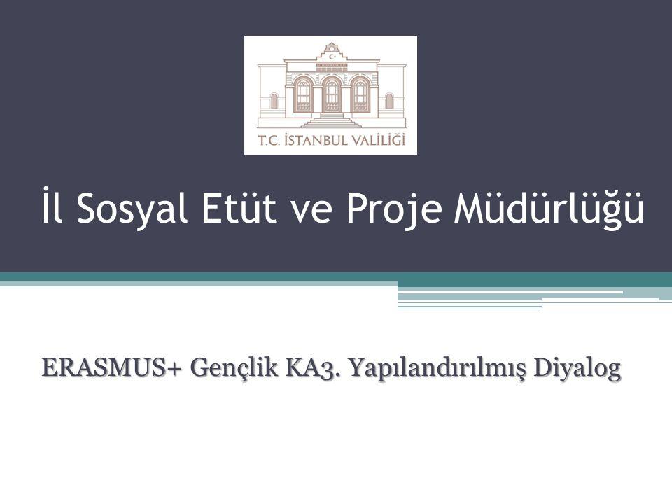 İl Sosyal Etüt ve Proje Müdürlüğü ERASMUS+ Gençlik KA3. Yapılandırılmış Diyalog