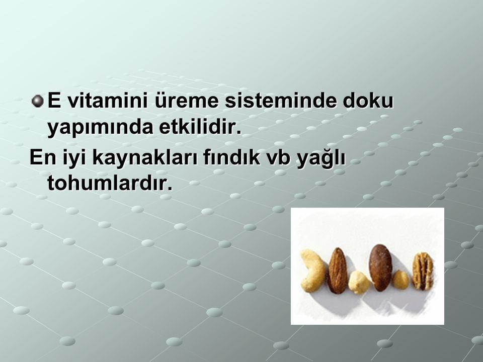 D vitamini kemik sağlığımız için gereklidir.