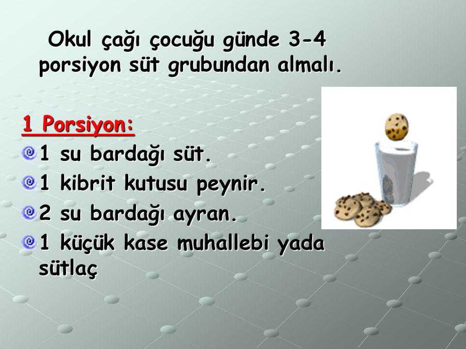 1.GRUP (süt ve süt ürünleri)