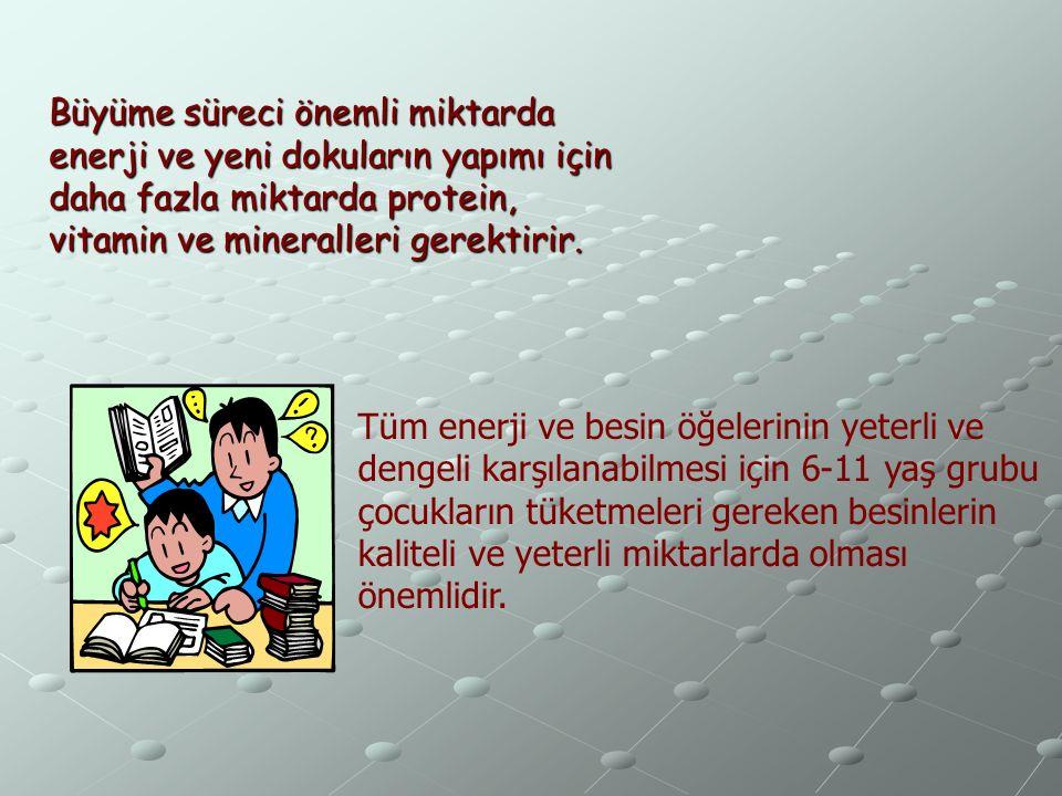 *Okul çağı büyüme ve gelişmenin hızlı olduğu, yaşam boyu sürebilecek davranışların büyük ölçüde kazanıldığı bir dönemdir.