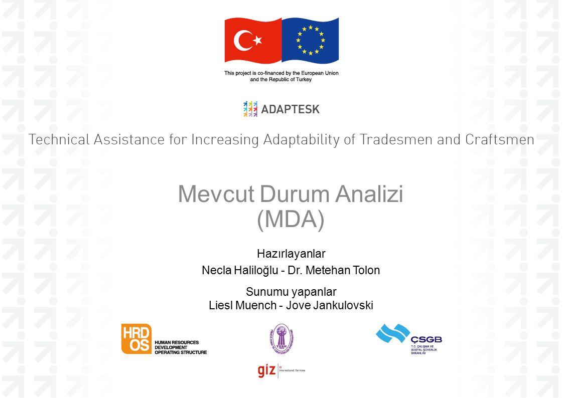 Mevcut Durum Analizi (MDA) Hazırlayanlar Necla Haliloğlu - Dr.