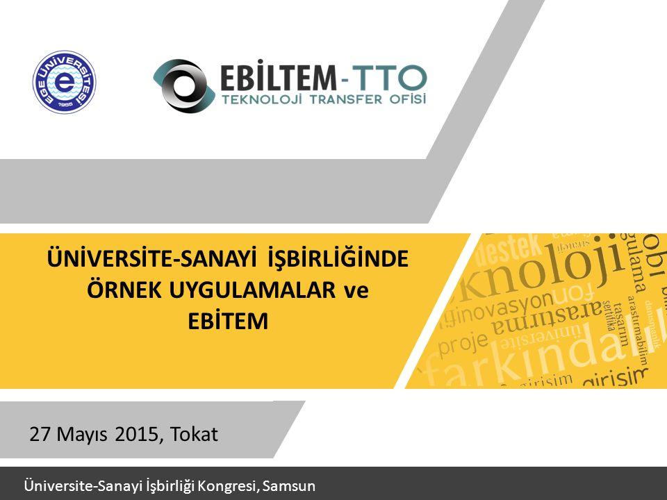 ÜNİVERSİTE-SANAYİ İŞBİRLİĞİNDE ÖRNEK UYGULAMALAR ve EBİTEM 27 Mayıs 2015, Tokat Üniversite-Sanayi İşbirliği Kongresi, Samsun