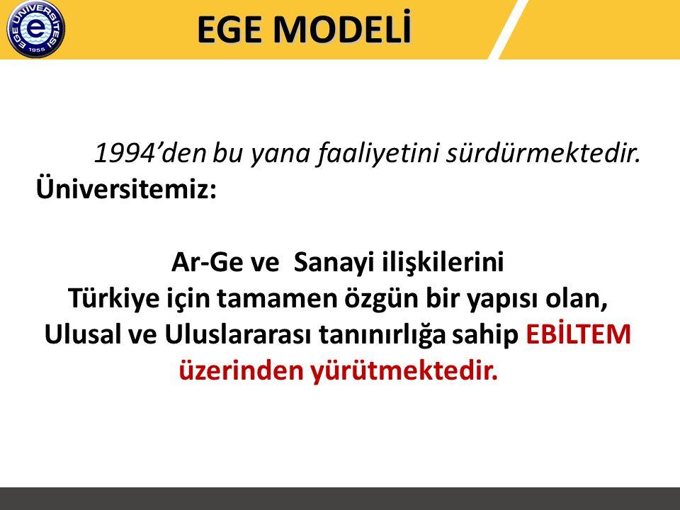 1994'den bu yana faaliyetini sürdürmektedir. Üniversitemiz: Ar-Ge ve Sanayi ilişkilerini Türkiye için tamamen özgün bir yapısı olan, Ulusal ve Uluslar