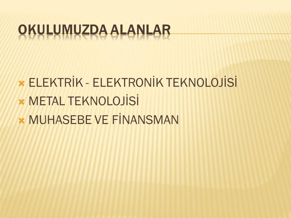  Elektrik-Elektronik Teknolojisi alanı, altında yer alan dallarının yeterliklerini kazandırmaya yönelik eğitim ve öğretim verilen alandır.