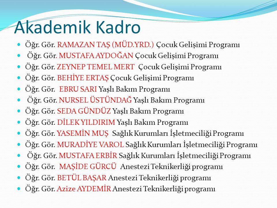 Akademik Kadro Öğr.Gör. Tolga HANAYOĞLU Tıbbi Dökümantasyon ve Sekreterlik Öğr.