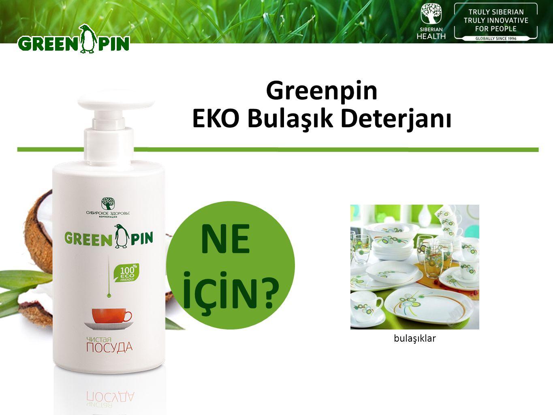 NE İÇİN Greenpin EKO Bulaşık Deterjanı bulaşıklar