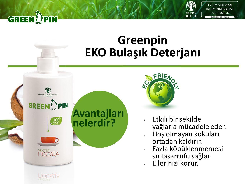 Greenpin EKO Bulaşık Deterjanı Etkili bir şekilde yağlarla mücadele eder. Hoş olmayan kokuları ortadan kaldırır. Fazla köpüklenmemesi su tasarrufu sağ