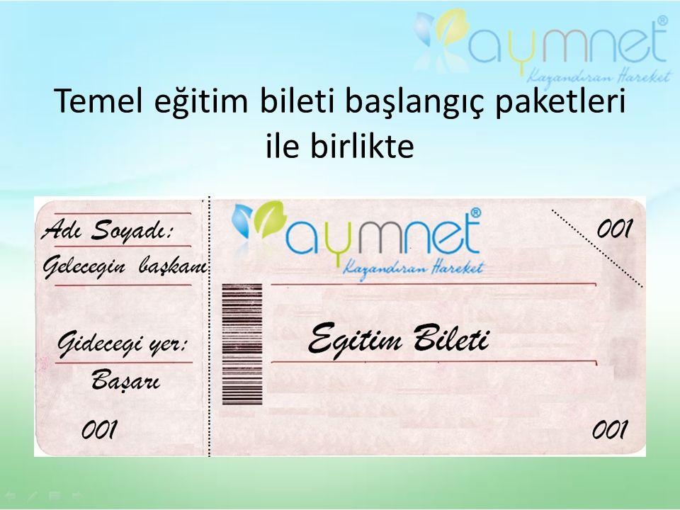Temel eğitim bileti başlangıç paketleri ile birlikte