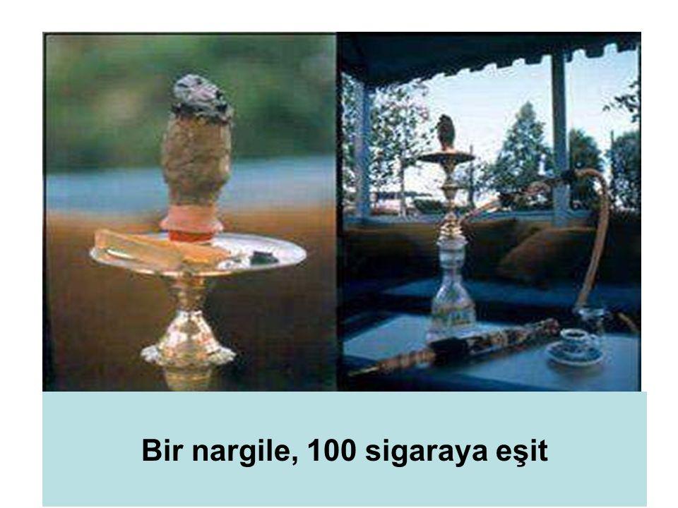 9 Bir nargile, 100 sigaraya eşit